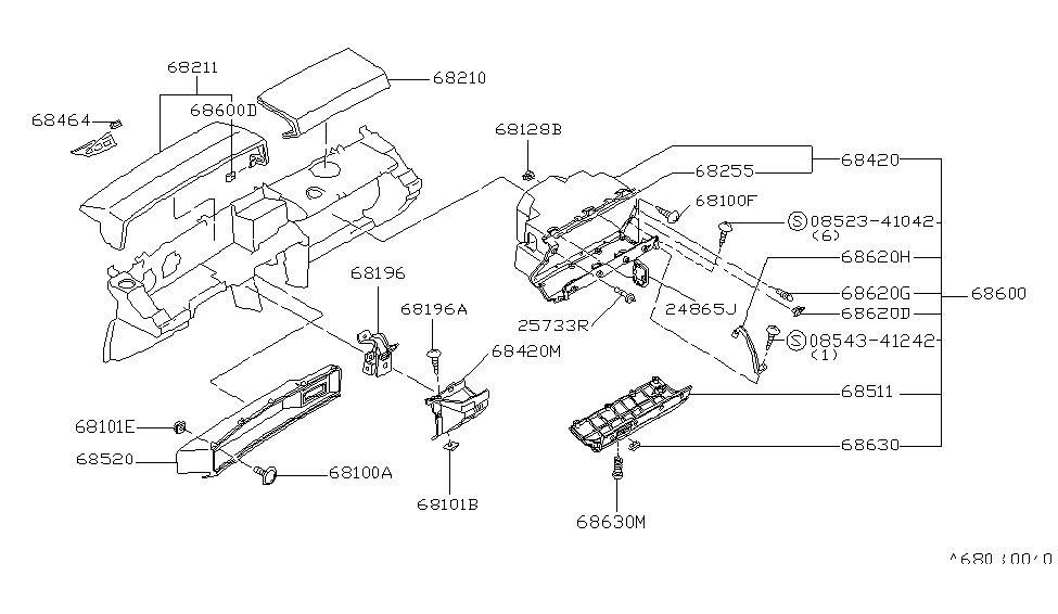 1982 Nissan Datsun 810 Instrument PanelPad Cluster Lid