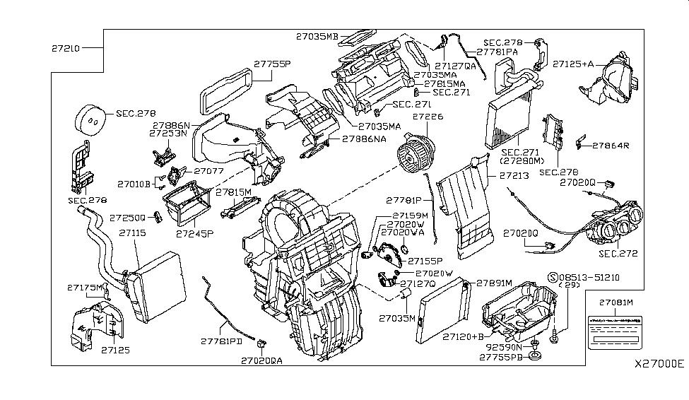 2010 Nissan Versa Sedan Heater & Blower Unit - Nissan Parts DealNissan Parts