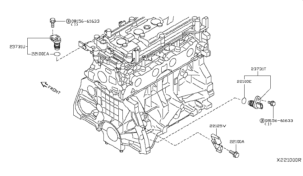 2009 nissan versa sedan distributor ignition timing sensor rh nissanpartsdeal com