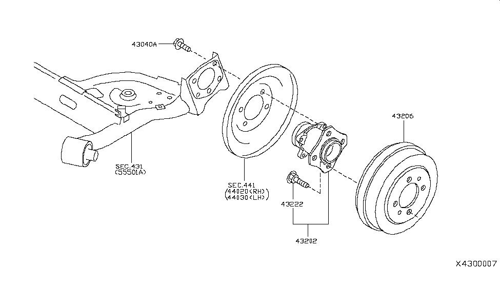 43206 el00a genuine nissan 43206el00a rotor brake. Black Bedroom Furniture Sets. Home Design Ideas