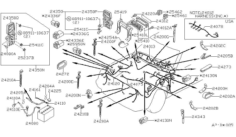 1986 nissan stanza sedan wiring