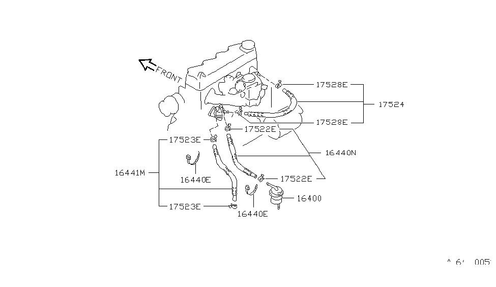 1988 nissan sentra fuel strainer & fuel hose