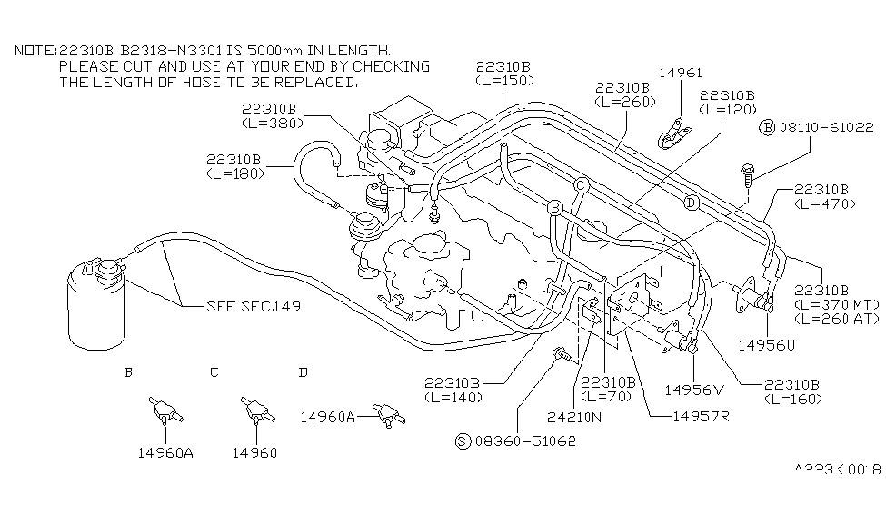 1989 nissan sentra engine control vacuum piping Ka24de Wiring Diagram 1989 nissan sentra engine control vacuum piping thumbnail 3