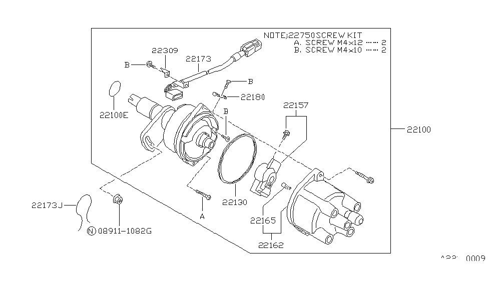 22131 78a10 genuine nissan 2213178a10 seal o ring rh nissanpartsdeal com 1994 nissan sentra distributor diagram nissan sentra distributor diagram
