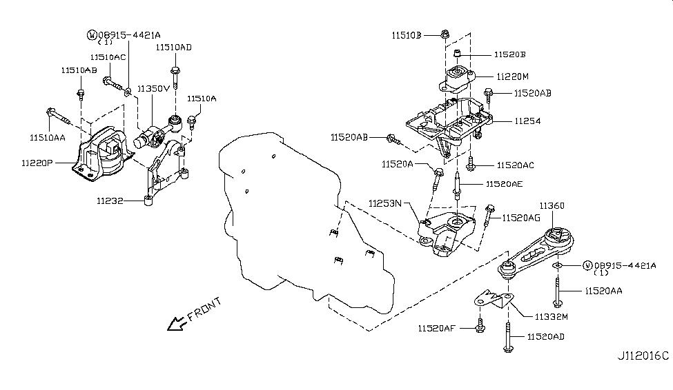 11360 ed000 genuine nissan parts2013 nissan cube engine \u0026 transmission mounting