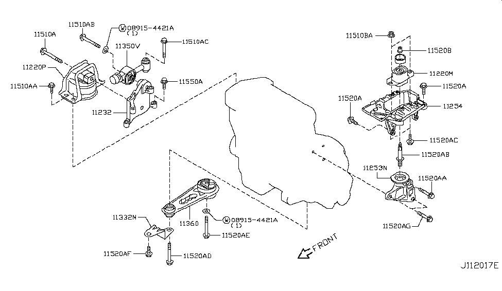 11360 ed000 genuine nissan parts rh nissanpartsdeal com  2012 nissan cube engine diagram
