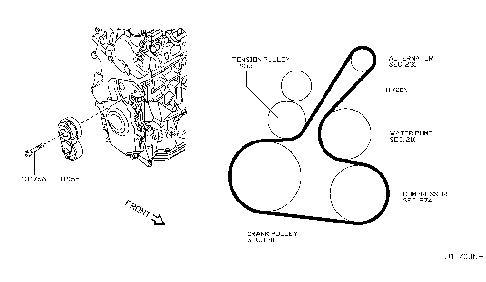 2013 nissan cube fan,compressor \u0026 power steering beltNissan Cube Engine Diagram #18