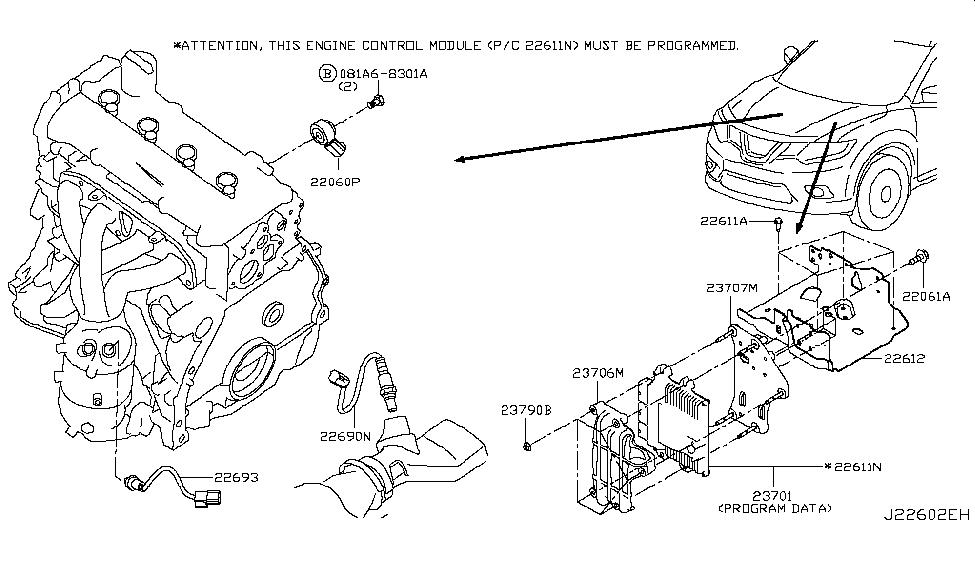 nissan 23703 5ha0a 2014 nissan rogue serpentine belt replacement 2008 nissan rogue engine diagram