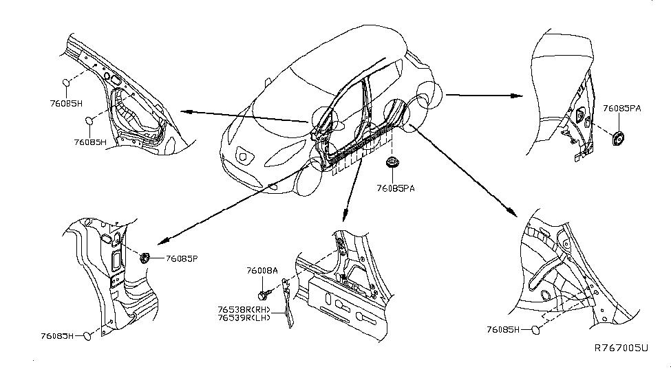 2015 Nissan Leaf Body Side Fitting - Nissan Parts Deal