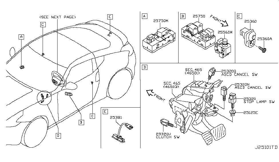 25325-D400E - Genuine Nissan Parts