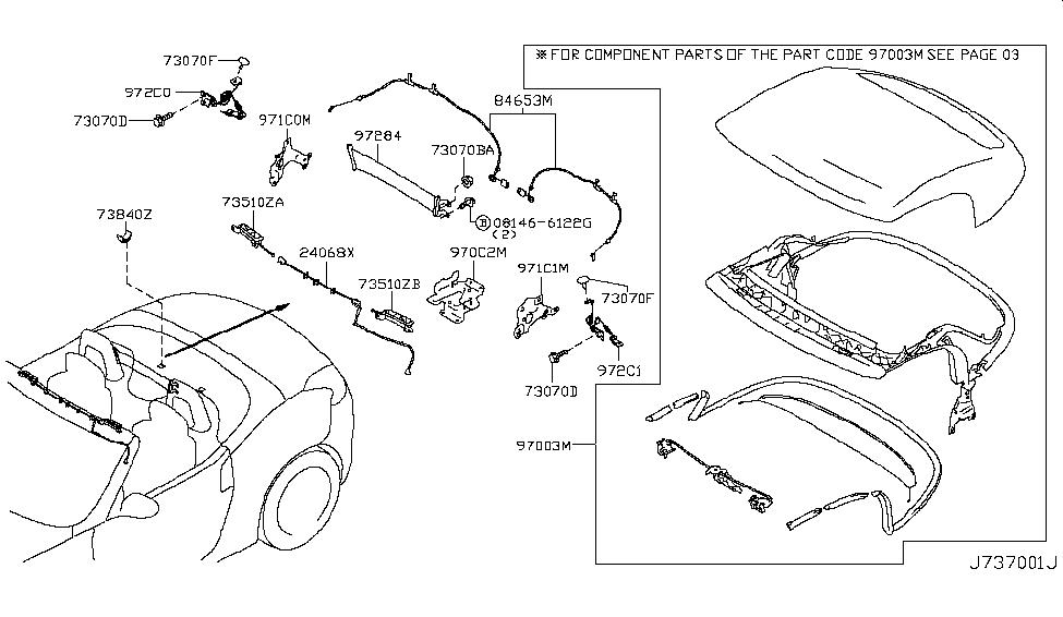 2012 Nissan 370Z Open Roof Parts - Nissan Parts Deal