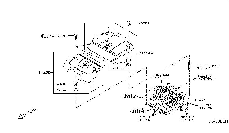 2013 nissan 370z manifold nissan parts deal rh nissanpartsdeal com  nissan 370z engine diagram