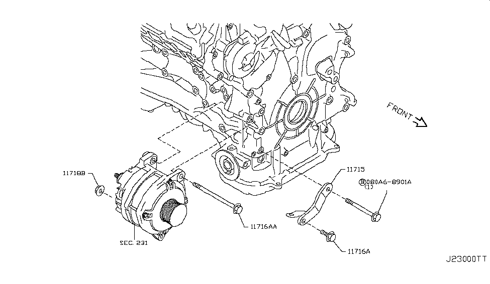 [QMVU_8575]  2019 Nissan 370Z Alternator Fitting - Nissan Parts Deal | 370z Engine Diagram |  | Genuine Nissan Parts