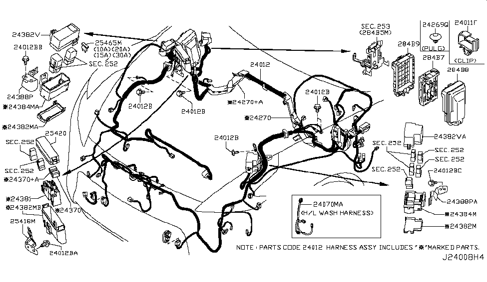 [DIAGRAM_3ER]  24012-1TG5A | Genuine Nissan #240121TG5A HARNESS ASSY-ENGINE ROOM | 370z Engine Diagram |  | Genuine Nissan Parts