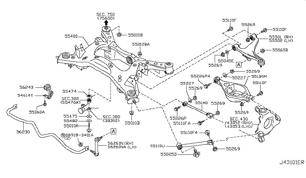 2009 Nissan 370z Rear Suspension Nissan Parts Deal