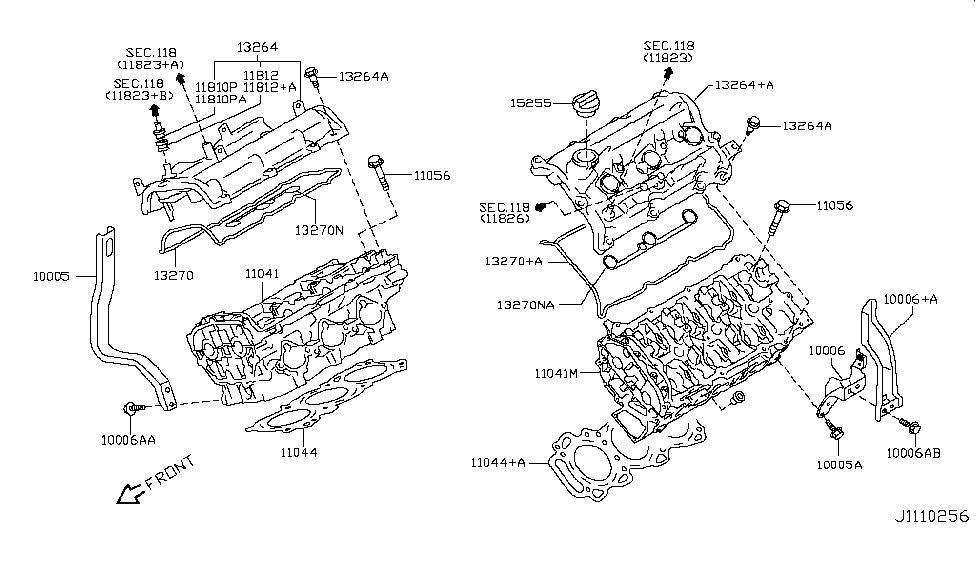 [SCHEMATICS_4CA]  2014 Nissan 370Z Cylinder Head & Rocker Cover - Nissan Parts Deal | 370z Engine Diagram |  | Genuine Nissan Parts