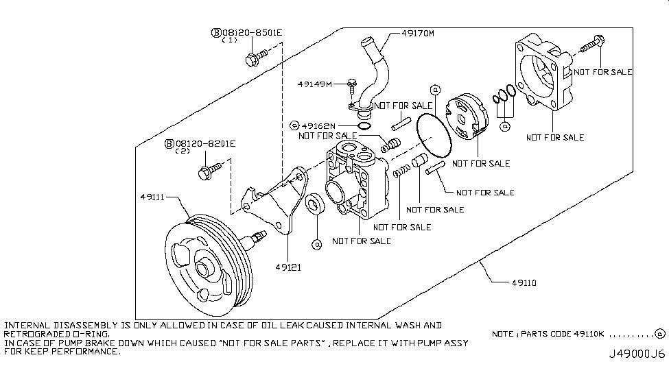 2010 Nissan 370Z Power Steering Pump - Nissan Parts Deal