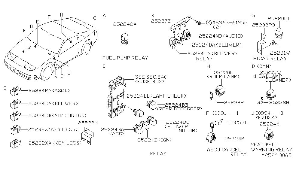 Cool 25230 79964 Genuine Nissan 2523079964 Relay Wiring Digital Resources Cettecompassionincorg