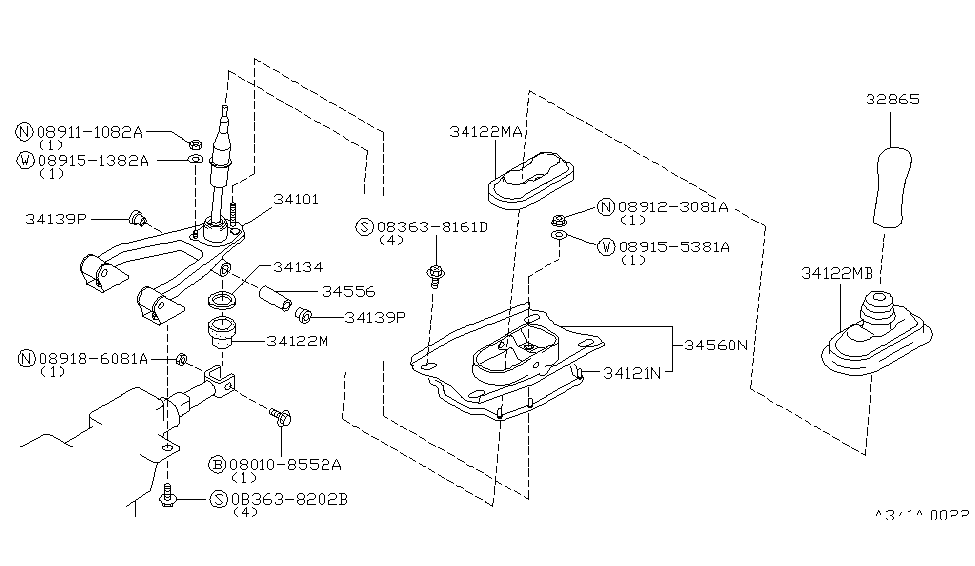 1991 nissan 300zx transmission control  u0026 linkage