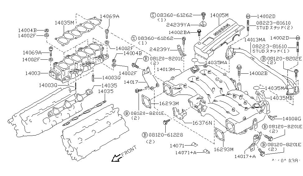 14875-30P01 | Genuine Nissan #1487530P01 CONNECTOR VACUUMNissan Parts