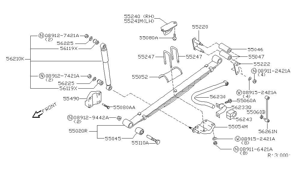 2004 Nissan Xterra Rear Suspension Nissan Parts Deal