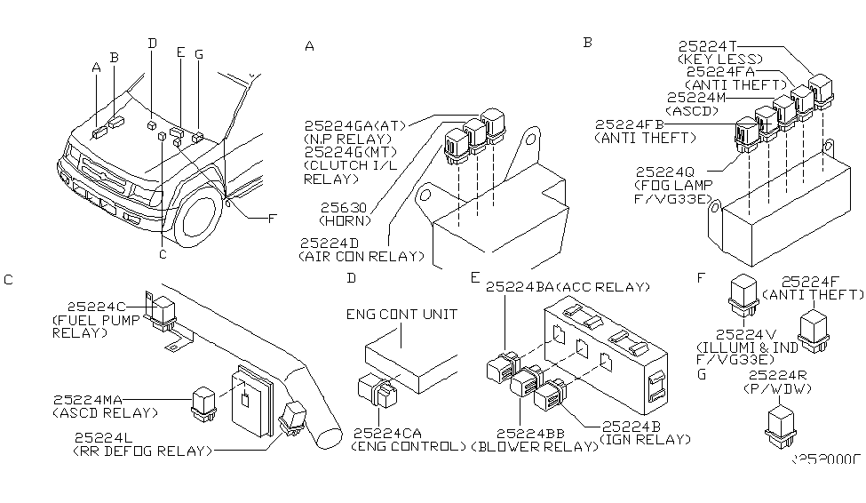 2002 nissan xterra relay nissan parts deal  2002 nissan xterra parts diagram #14