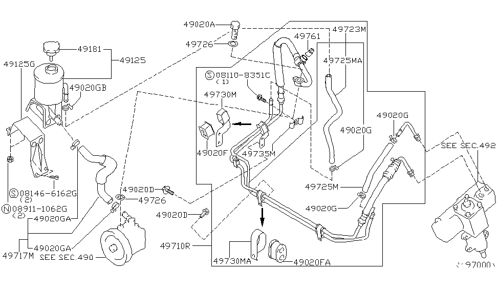 2001 nissan xterra hose diagram