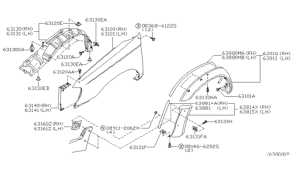 34 2000 Nissan Xterra Parts Diagram