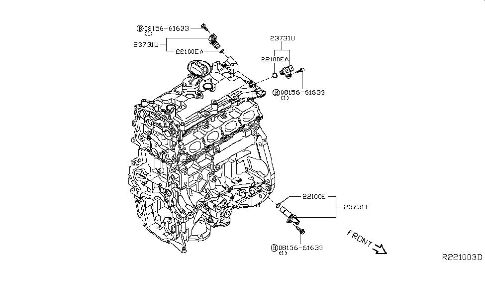 2015 Nissan Sentra Distributor & Ignition Timing Sensor