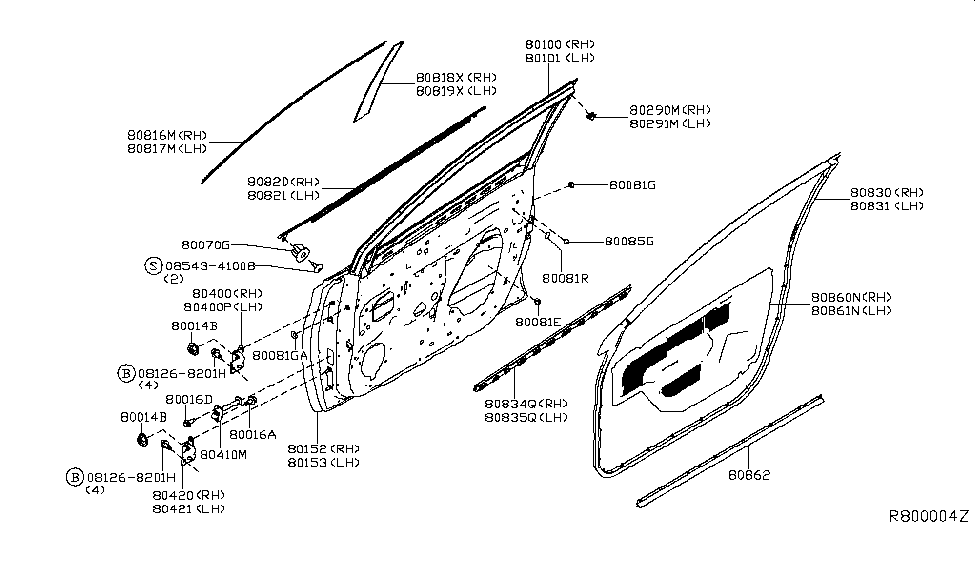 2013 Nissan Sentra Front Door Panel  U0026 Fitting