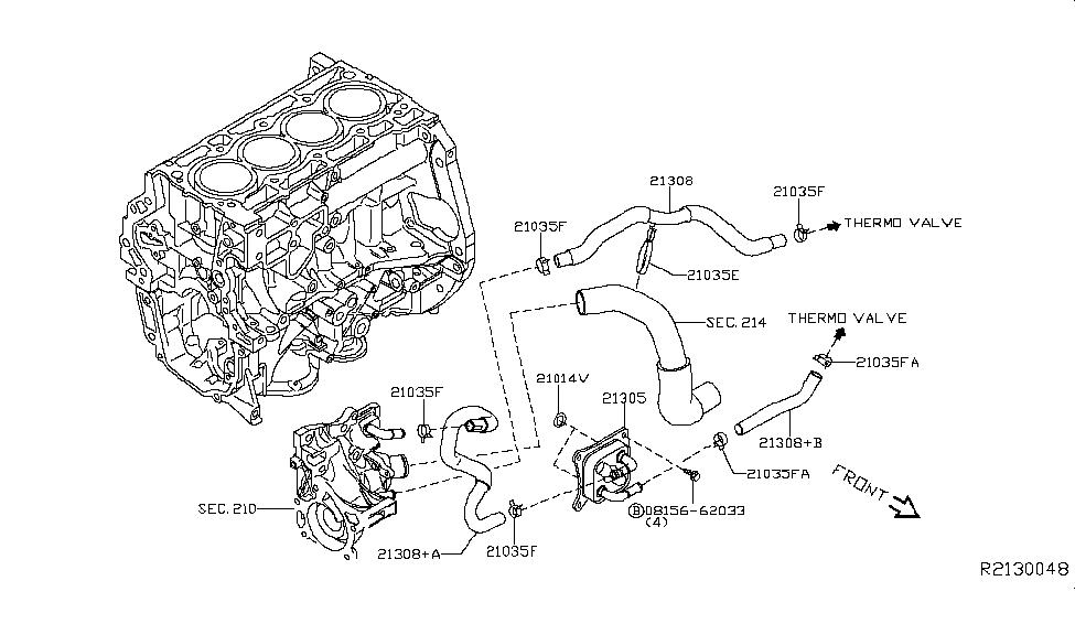 2014 Nissan Sentra Oil Cooler - Nissan Parts Deal