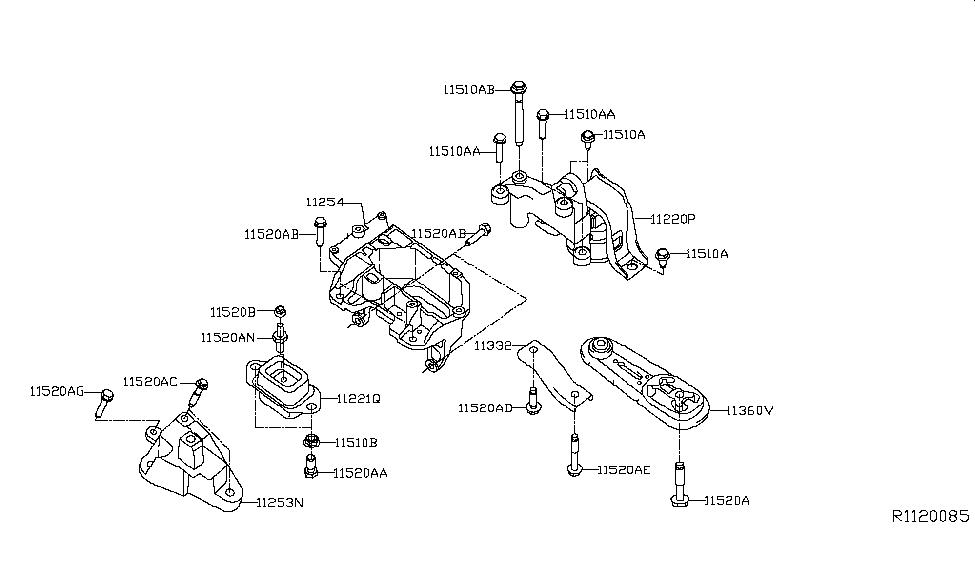 2016 nissan sentra engine transmission mounting rh nissanpartsdeal com My Nissan Nismo Performance 2012 370Z Nismo Red