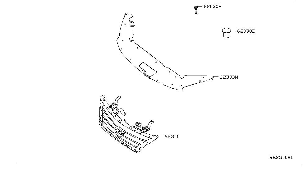 2013 Nissan Sentra Front Grille - Nissan Parts Deal