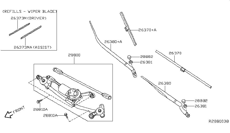 2017 Nissan Sentra Windshield Wiper - Nissan Parts Deal