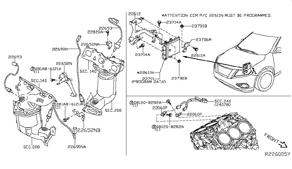 226A0-BV80A - Genuine Nissan Parts