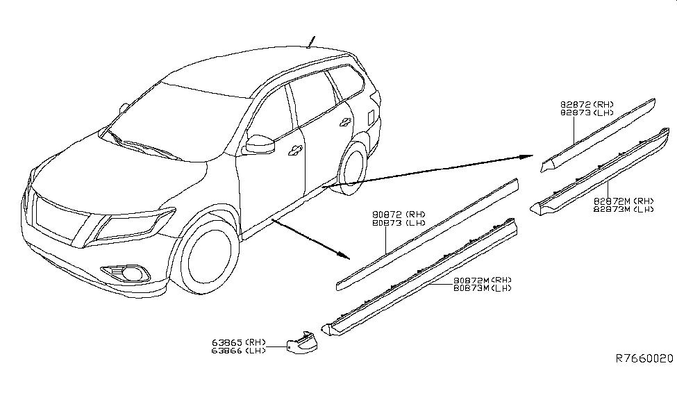 2013 Nissan Pathfinder Body Side Molding - Nissan Parts Deal