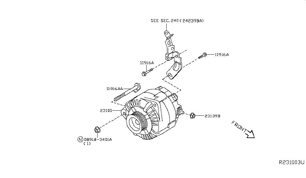 2013 nissan pathfinder alternator