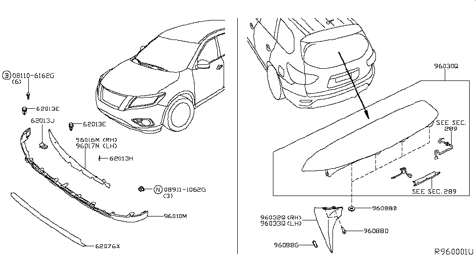 2013 Nissan Pathfinder Rear Door Parts Diagram • Wiring