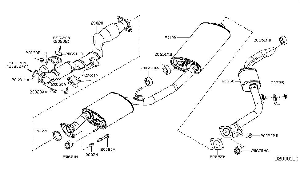 2011 Nissan Quest Exhaust Tube & Muffler - Nissan Parts Deal