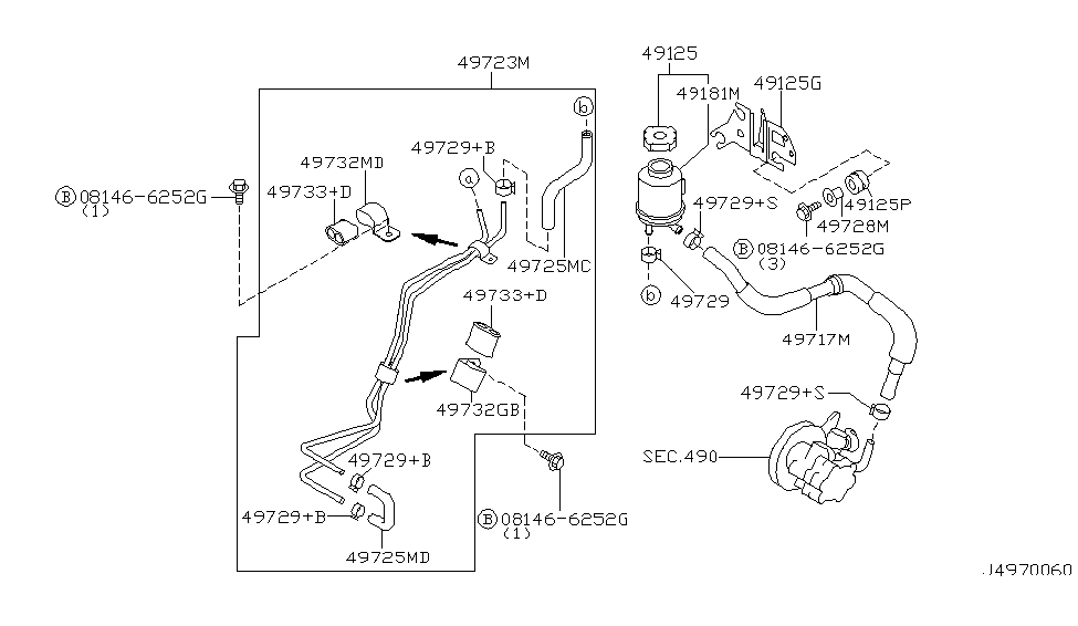 2000 Nissan Maxima Power Steering Hose Diagram