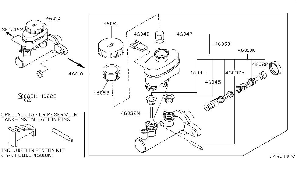 2000 Nissan Maxima Brake Master Cylinder Nissan Parts Deal