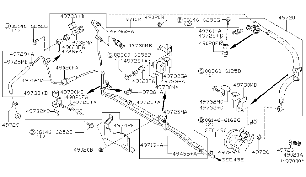 2000 Nissan Maxima Exhaust System Diagram