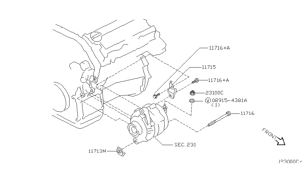 2000 Nissan Maxima Alternator Ing Thumbnail 1