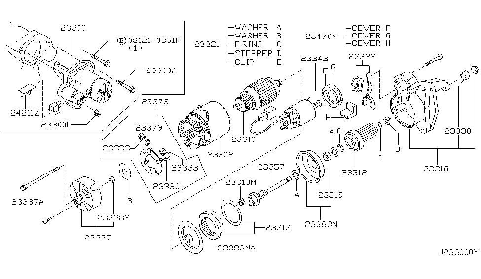 2002 Nissan Maxima Starter Motor