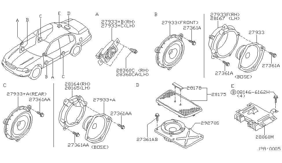 2001 Nissan Maxima Speaker Thumbnail 1