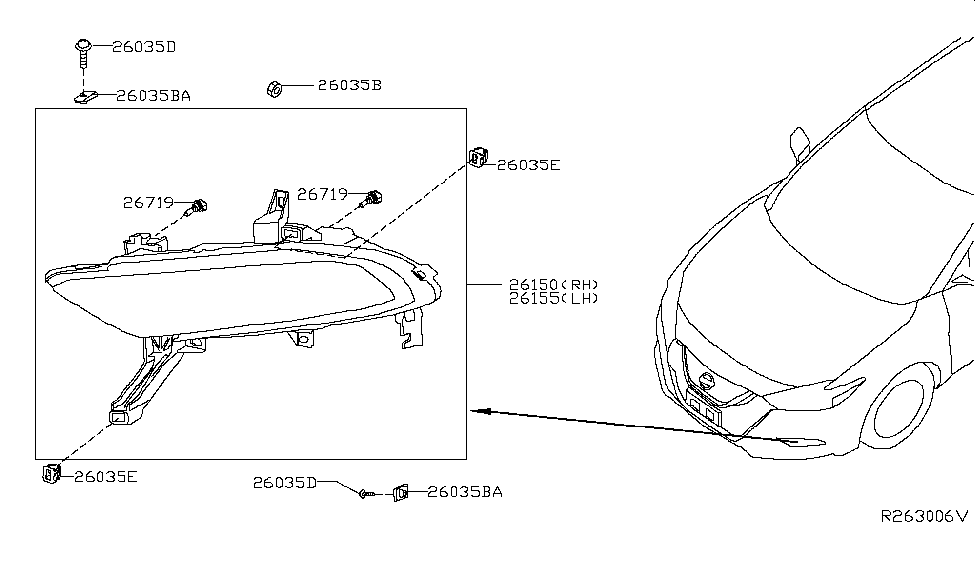Nissan Maxima Reliability >> 26150-4RA0A - Genuine Nissan Parts