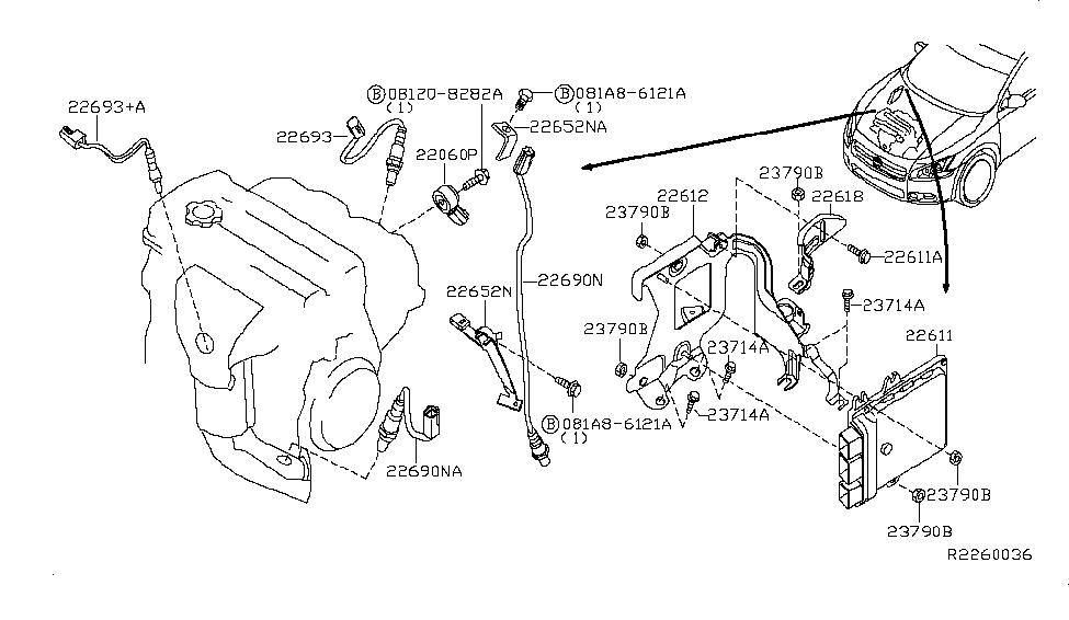 23710-ZY70A | Genuine Nissan #23710ZY70A ENGINE CONTROL MODULEGenuine Nissan Parts