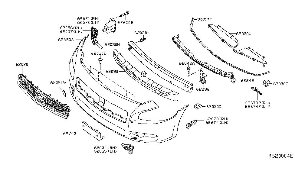 2014 Nissan Maxima Front Bumper - Nissan Parts Deal