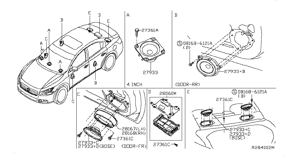 2011 nissan maxima speaker nissan parts deal rh nissanpartsdeal com Nissan 3.5 Liter Engine 2000 Nissan Maxima Parts Diagram