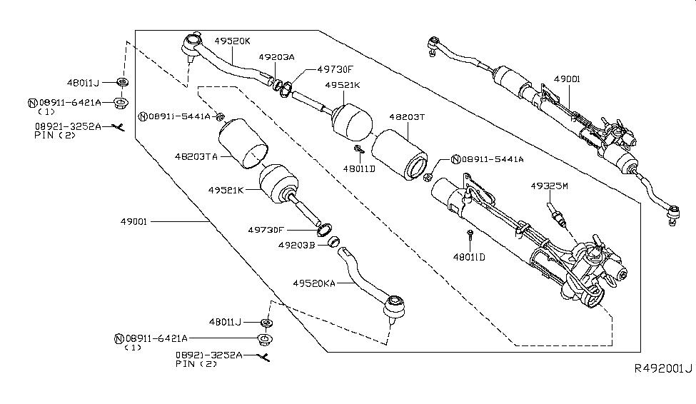 49001-9N00B | Genuine Nissan #490019N00B GEAR & LINKAGE